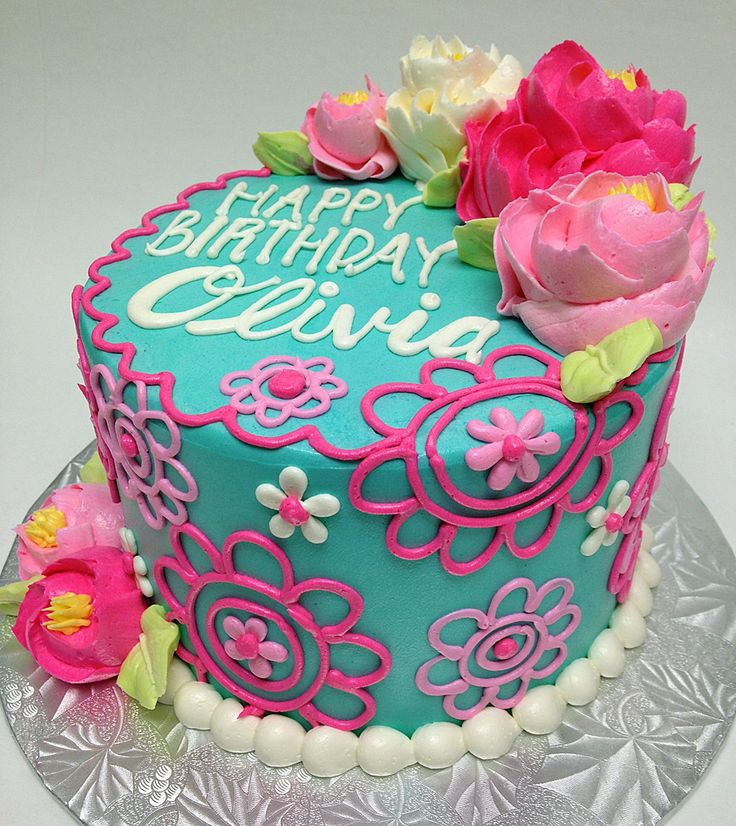 11 Girls Birthday Cakes Flower Designs Photo Flower Birthday Cake