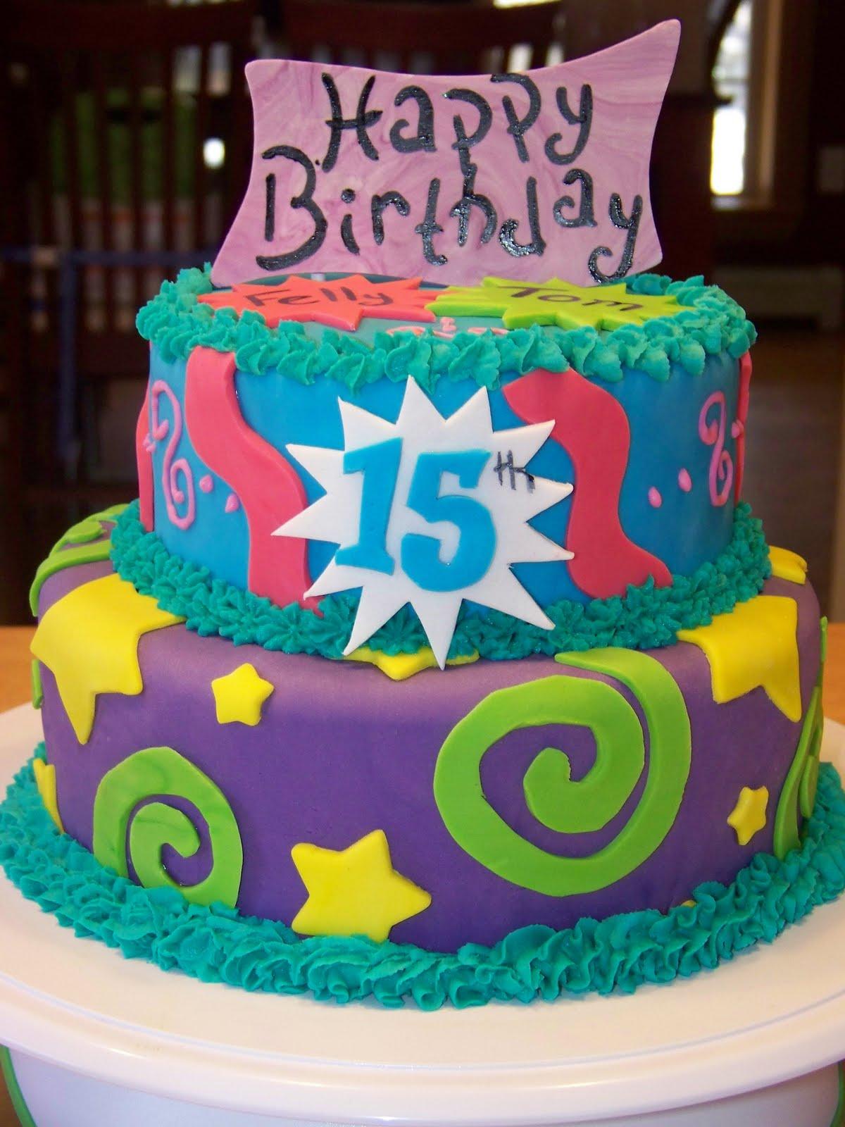 11 Happy Fifteenth Birthday Cakes Photo Happy 15th Birthday Cake