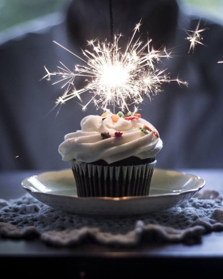 Happy Birthday Cupcake With Sparkler