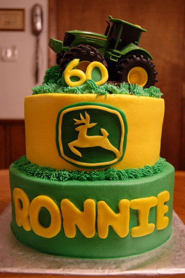 8 John Deere Equipment Cakes Photo John Deere Birthday Cake John