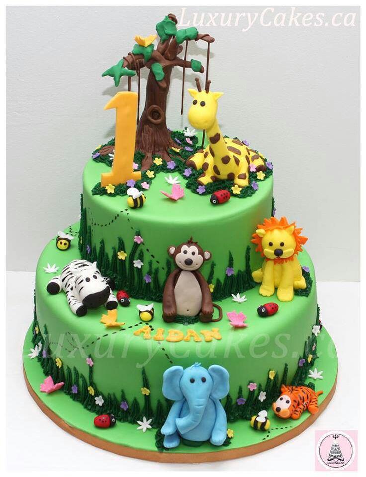 13 Zoo Animal Cakes Photo Animal Baby Shower Cake Zoo Animal