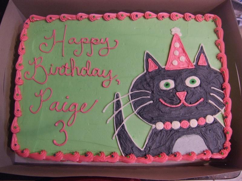 Wondrous 12 Kitty Cat Birthday Cakes Photo Kitty Cat Birthday Cake Ideas Funny Birthday Cards Online Ioscodamsfinfo