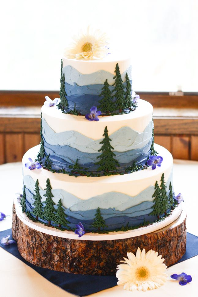 8 Wildlife Decorated Cakes Photo Nature Wedding Cakes Ideas