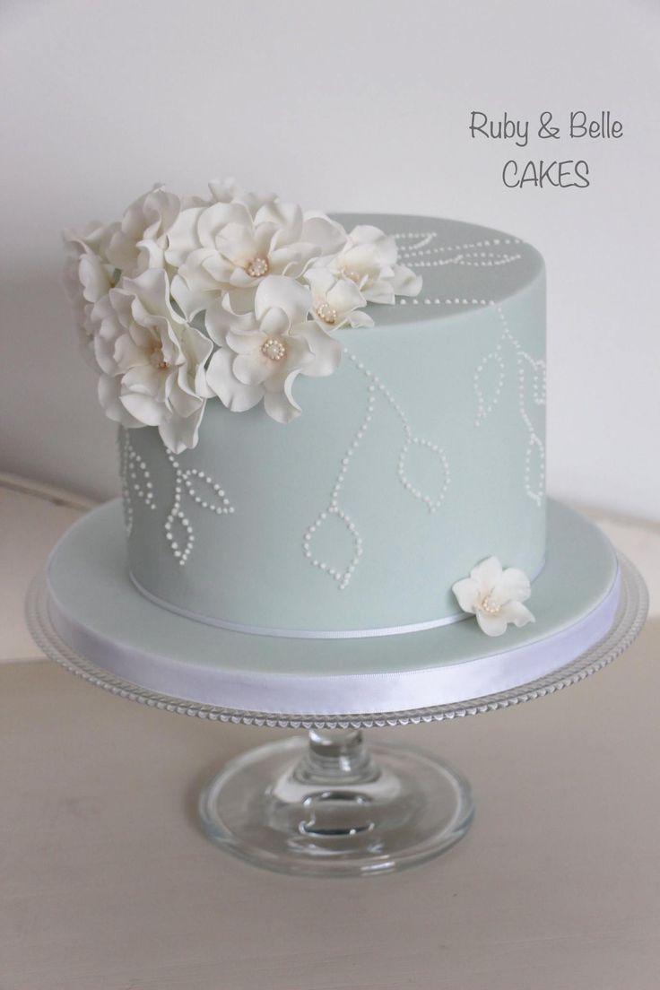 10 Single Layer Anniversary Cakes Photo - Single Tier Wedding Cake ...