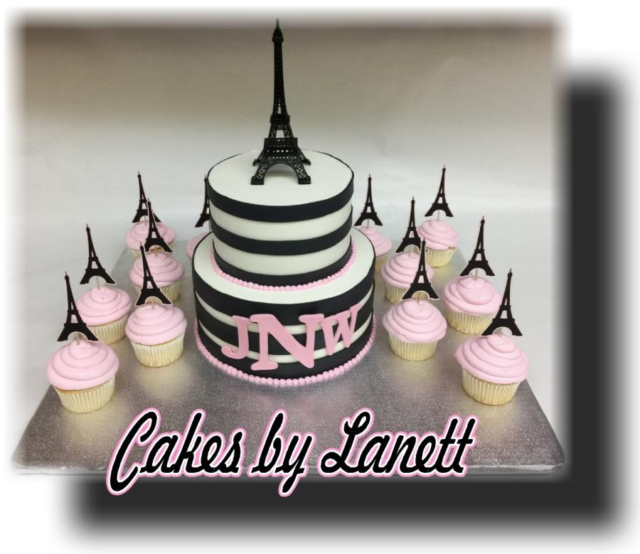 7 Paris Themed Baby Shower Cupcakes Photo Paris Baby Shower