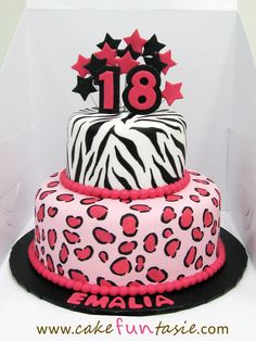 10 Photos of Pink Cheetah Print Cakes With Bows