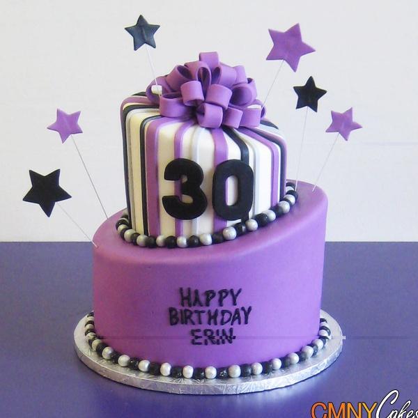 Purple 30th Birthday Cake
