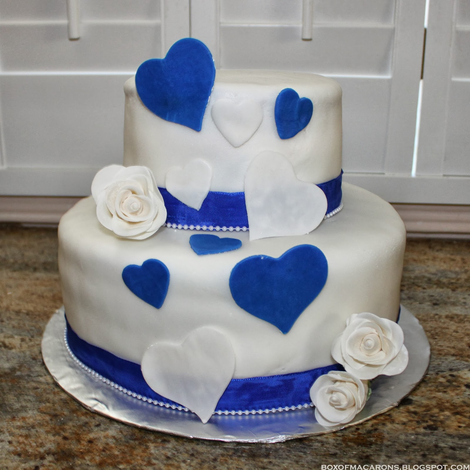 10 Royal Blue Anniversary Cakes Photo - Royal Blue White and ...