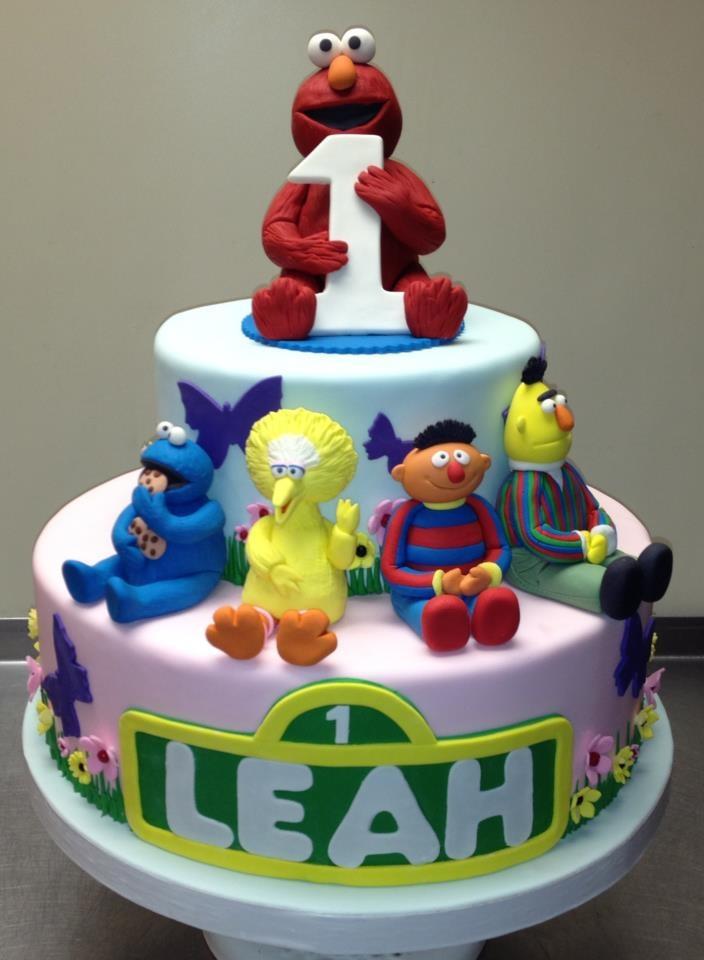 Enjoyable 9 Sesame Street Baby 1St Birthday Cakes Photo Sesame Street Personalised Birthday Cards Sponlily Jamesorg