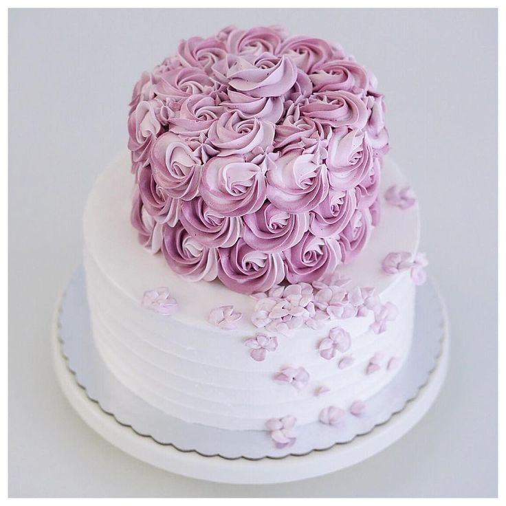 Simple Two Tier Buttercream Birthday Cake
