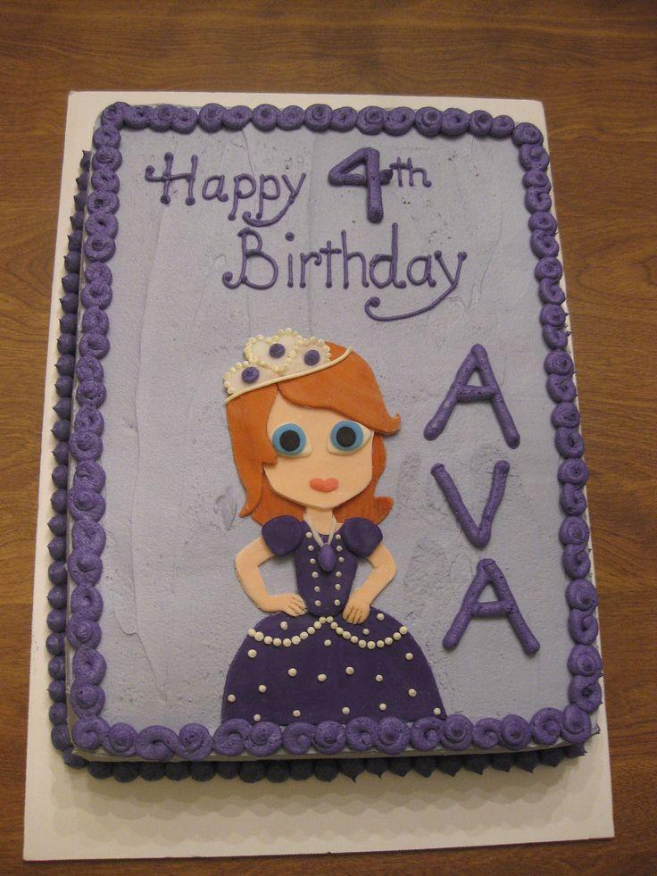 12 Princess Sofia Birthday Sheet Cakes Photo Sofia the First Sheet