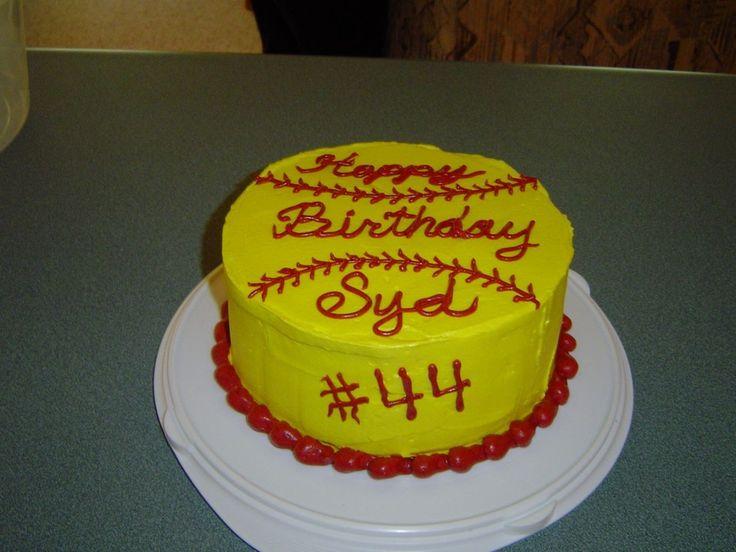 12 Softball Party Cakes Photo Softball Birthday Cake Softball