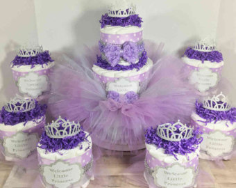Tutu Baby Shower Diaper Cake Centerpiece