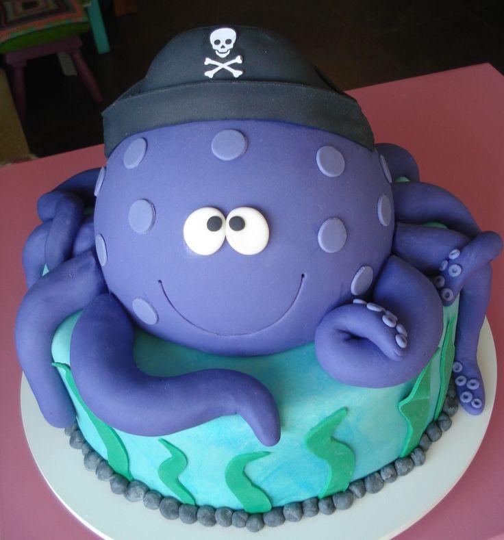 Pleasing 10 Octopus Birthday Cakes Ideas Photo Animal Birthday Cake Funny Birthday Cards Online Inifodamsfinfo