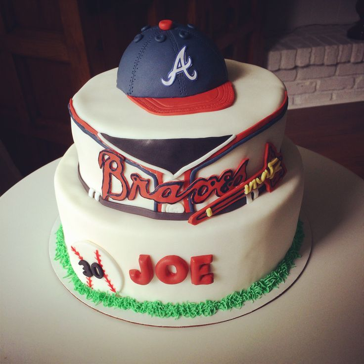 11 Atlanta Baseball Cakes Photo Atlanta Braves Baseball Birthday