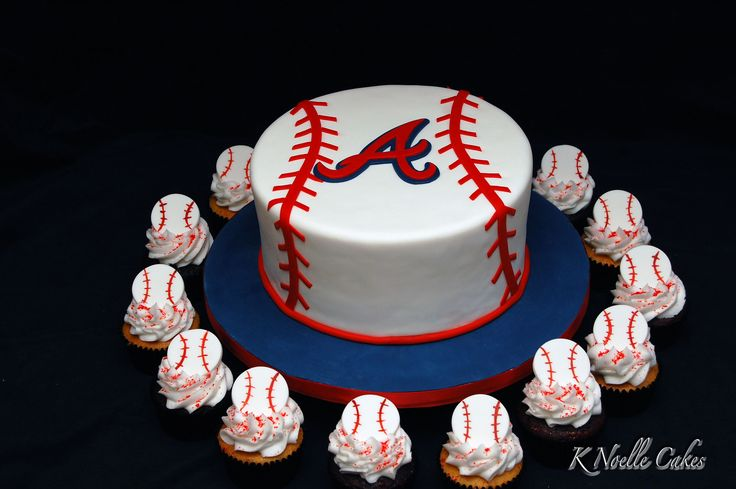 11 Atlanta Baseball Cakes Photo Atlanta Braves Baseball Birthday