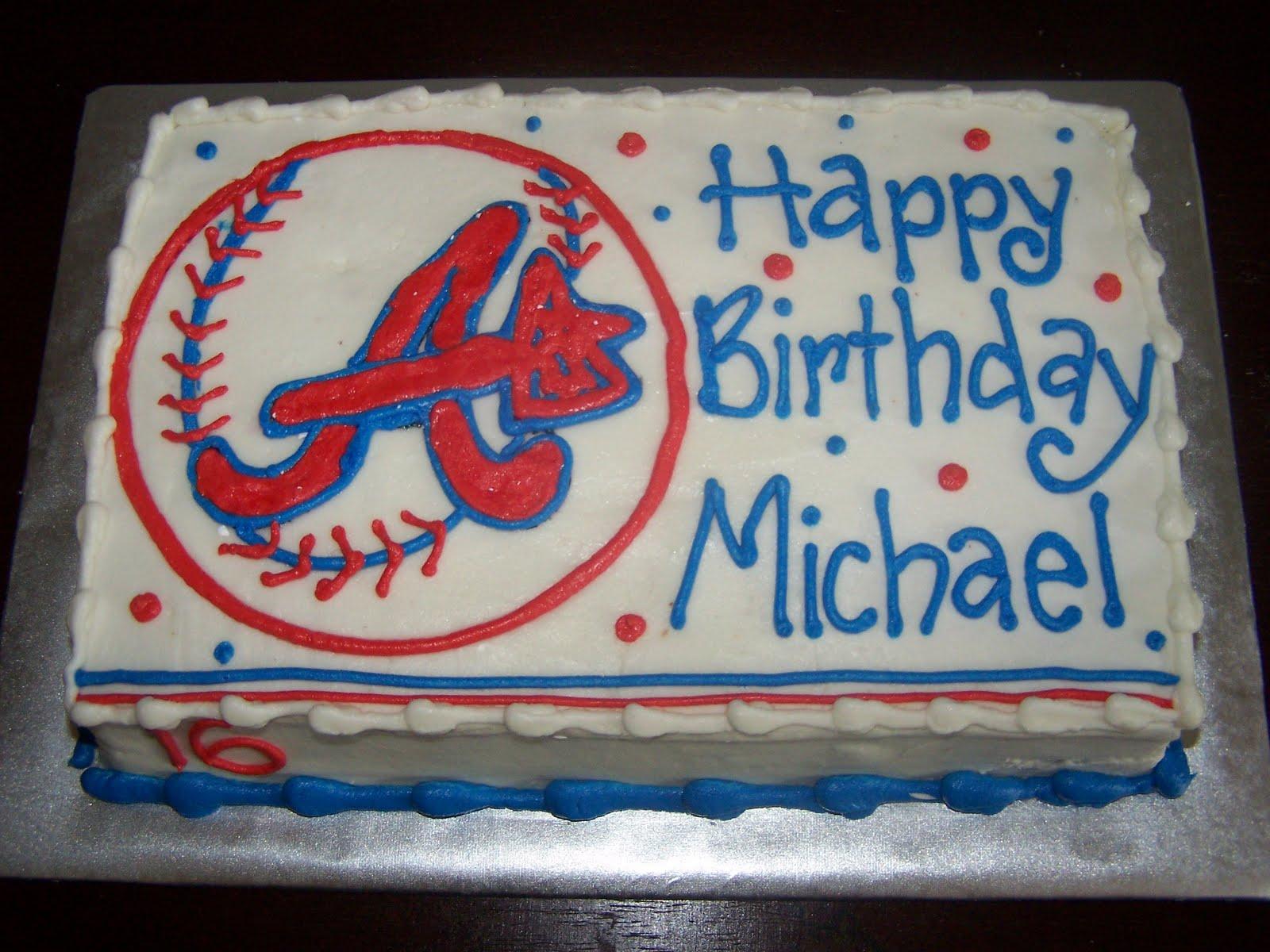 Atlanta Braves Baseball Themed Cakes And Cupcakes