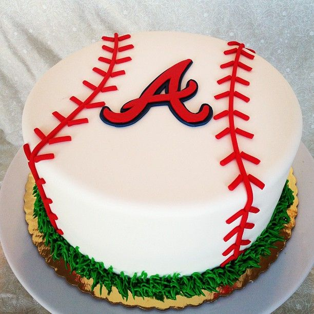 Cool 11 Atlanta Baseball Cakes Photo Atlanta Braves Baseball Birthday Funny Birthday Cards Online Sheoxdamsfinfo
