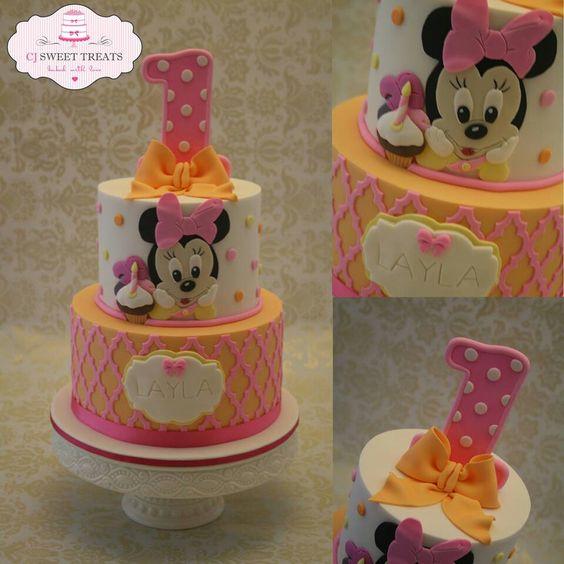 12 Baby Minnie Birthday Cakes Photo Baby Minnie Mouse 1st Birthday