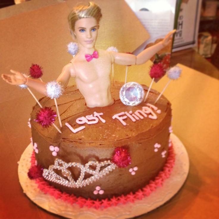 12 Bachlorette Cakes Barbie And Ken Photo Ken Doll Bachelorette