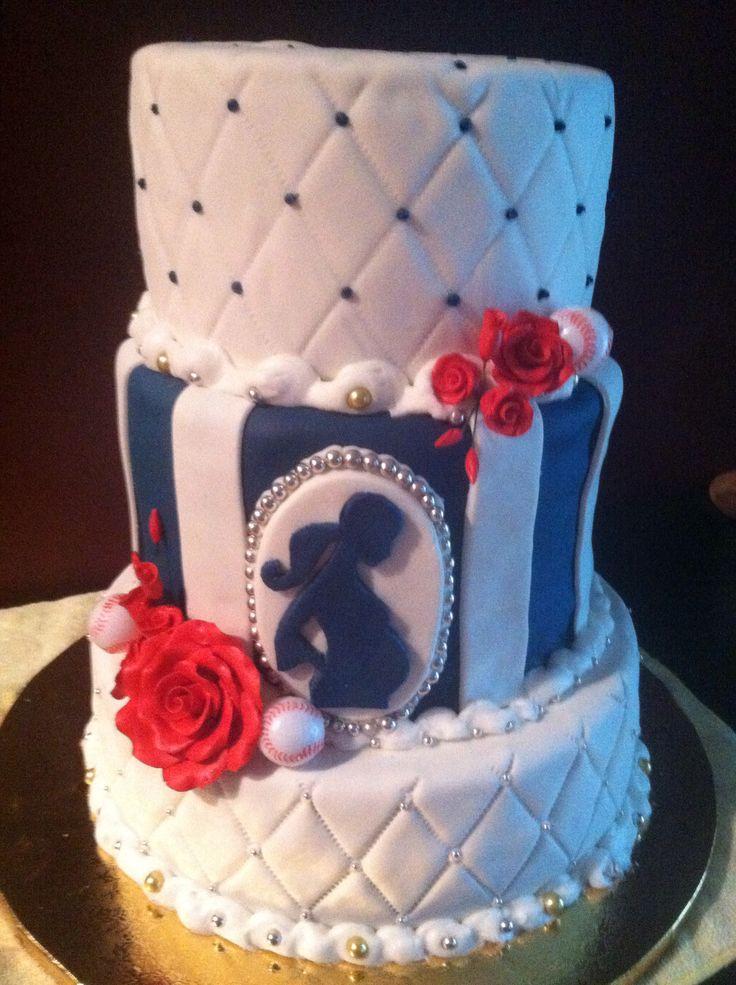 9 Cakes Baseball Bbabyshowe Photo Baseball Baby Shower Cake