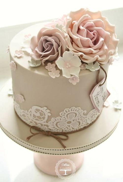 Pleasant 9 Elegant Floral Birthday Cakes Photo Beautiful Elegant Birthday Personalised Birthday Cards Veneteletsinfo