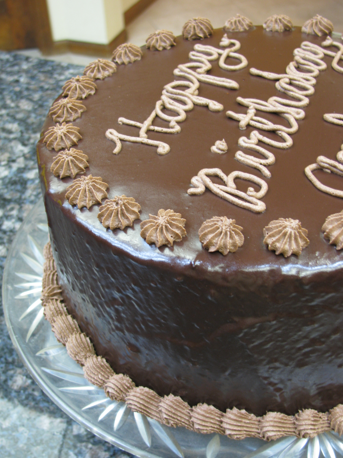 Birthday Cake With Chocolate Buttercream Frosting