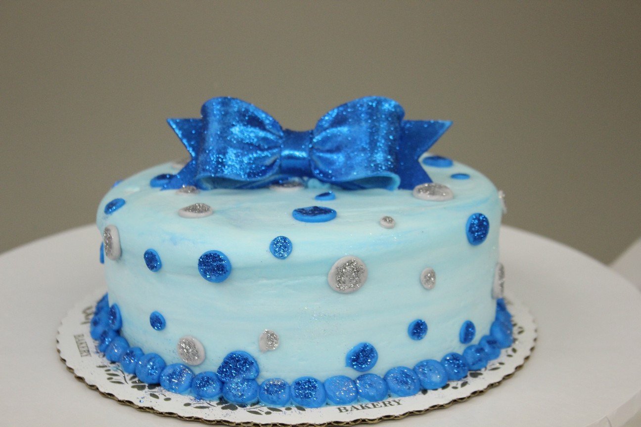 Blue Girl Birthday Cakes