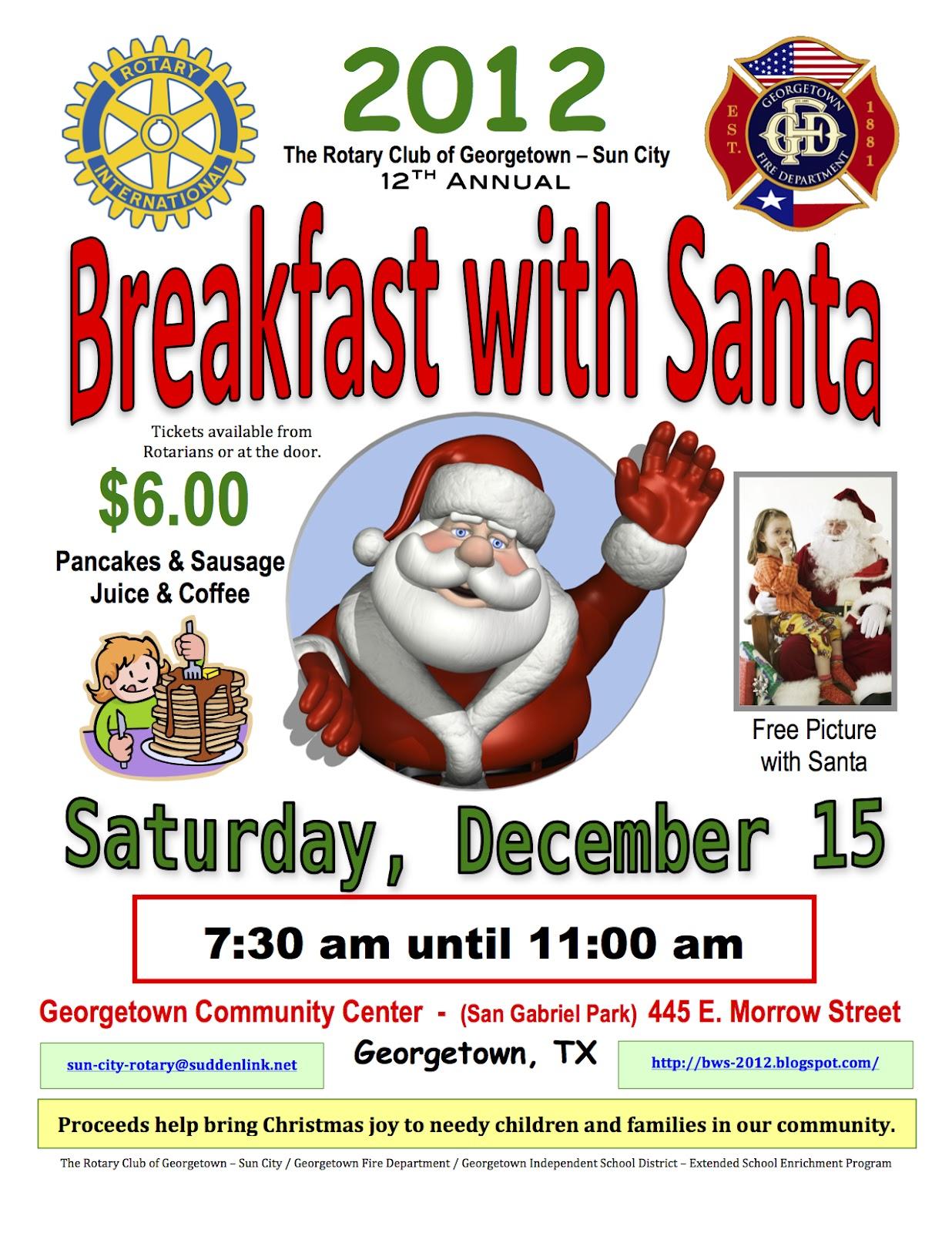 10 pancakes with santa flyer photo pancake breakfast with santa