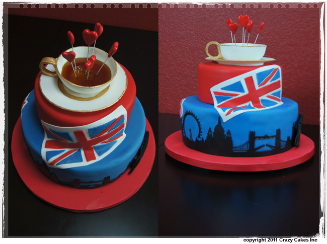 12 English Themed Cakes Photo British Themed Birthday Cake