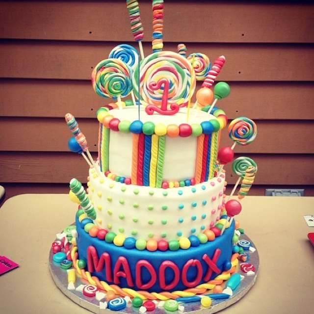 Candy Birthday Cake Ideas