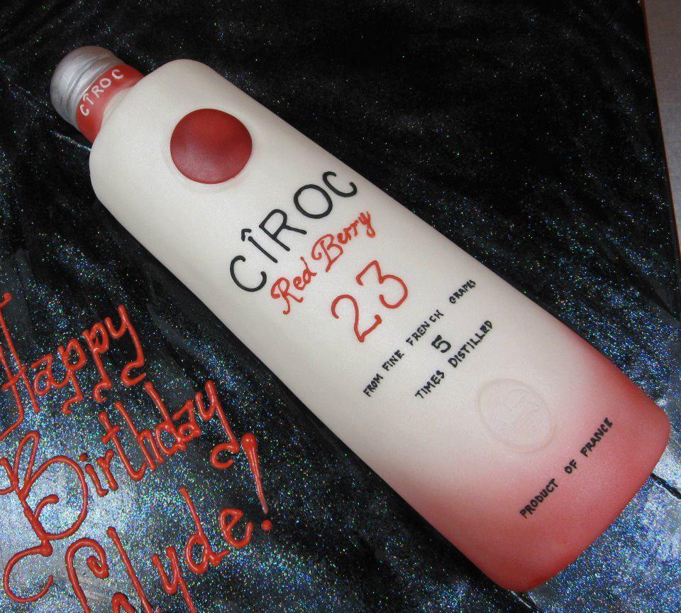 Awesome 9 Ciroc Peach Custom Cakes Photo Ciroc Bottle Birthday Cake Funny Birthday Cards Online Alyptdamsfinfo