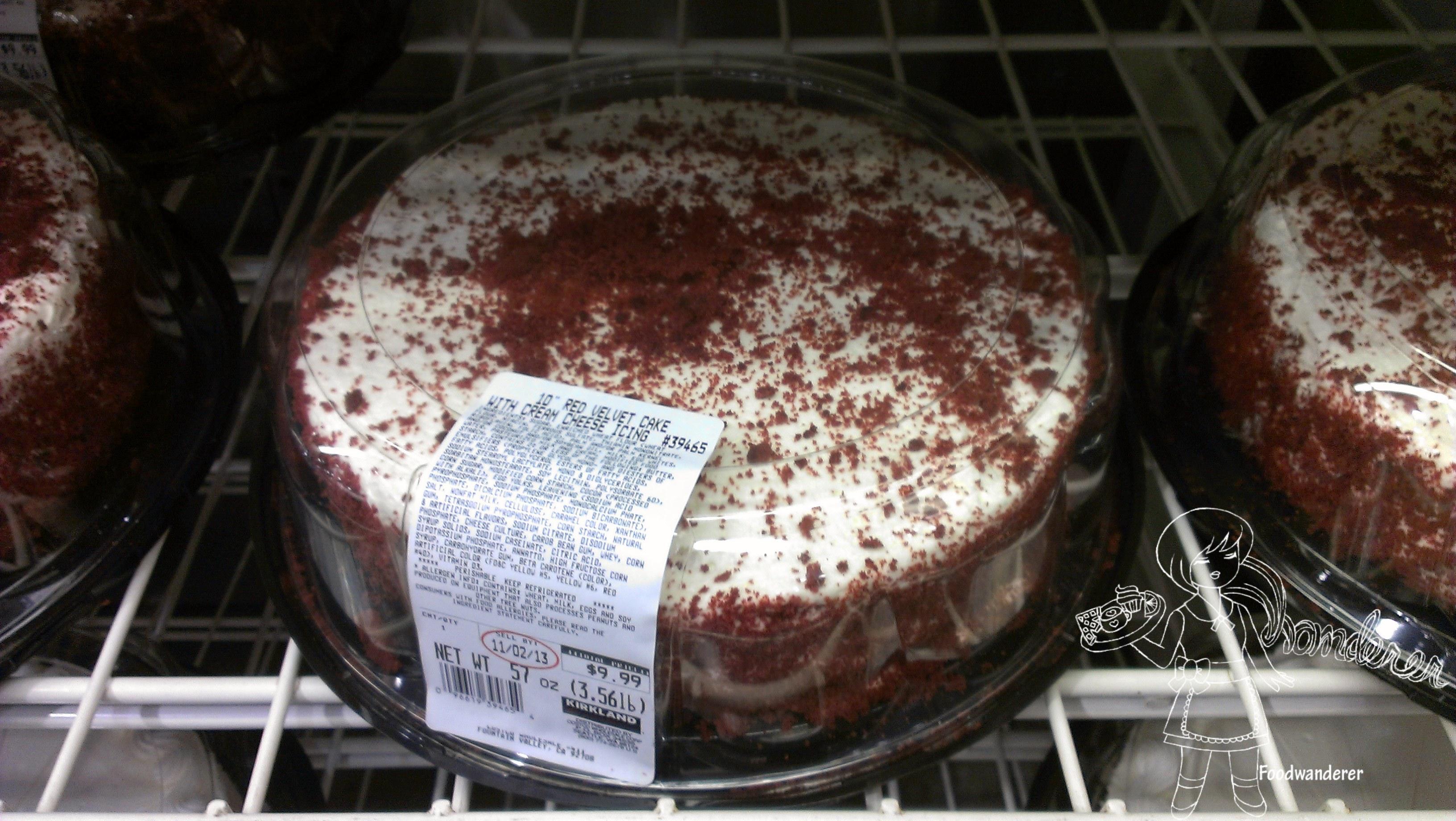 Kirkland Red Velvet Cake Ingredients