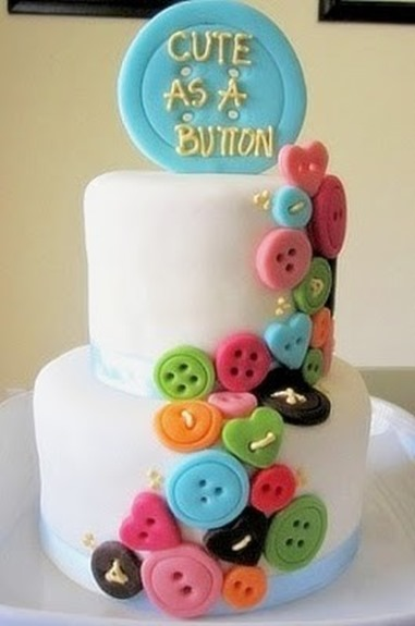 8 Cute Baby Shower Button Cakes Photo Cute As A Button Baby Shower