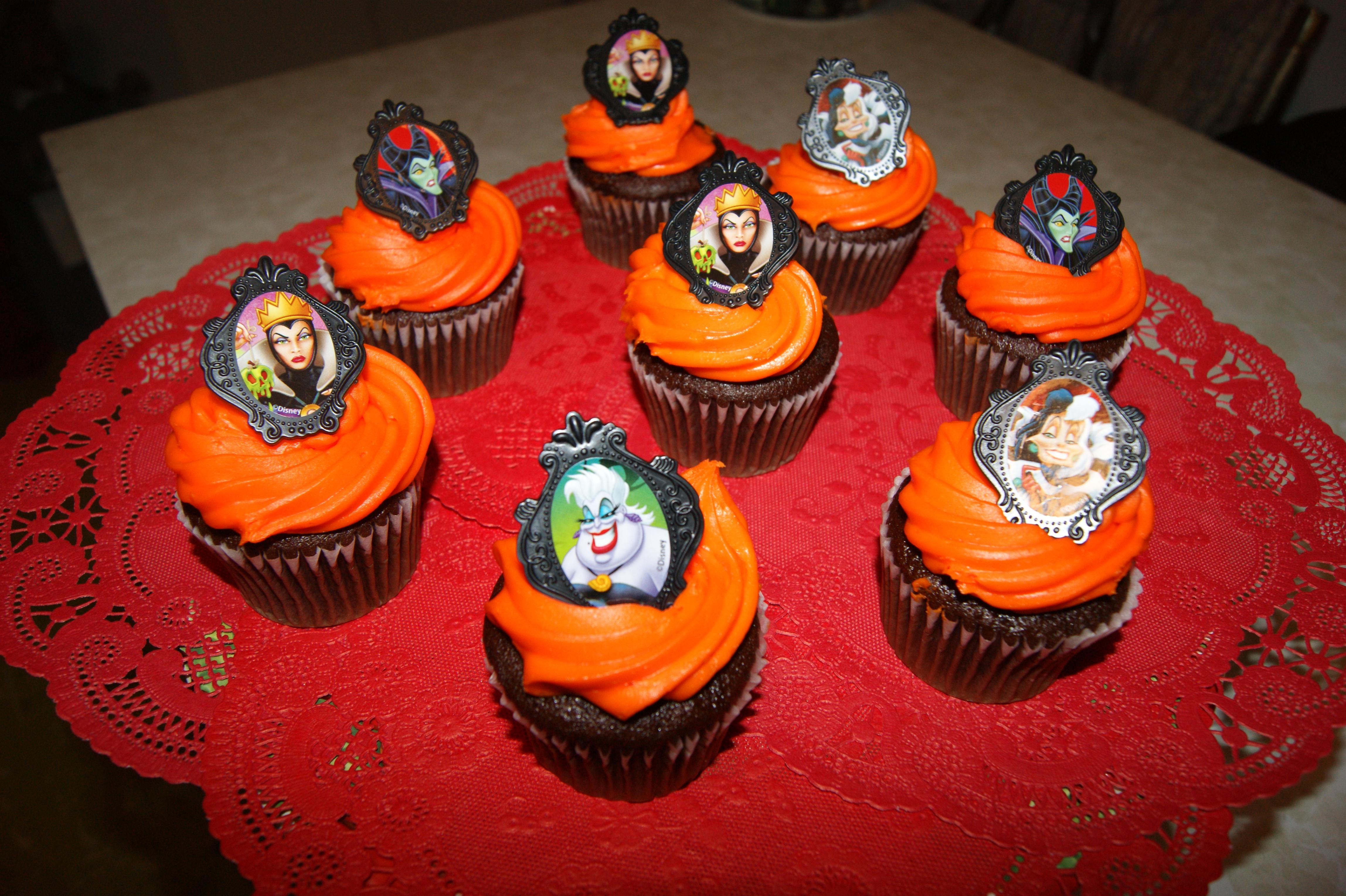 8 Disney Villains Halloween Cupcakes Photo Disney Villain Cupcakes