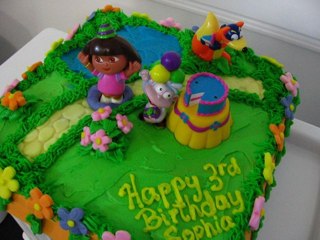 10 Dora B Day Cakes Photo Homemade Dora Birthday Cake Dora