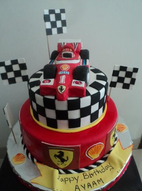 Astonishing 7 Ferrari Colors Cakes Photo Ferrari Birthday Cake Ferrari Funny Birthday Cards Online Aboleapandamsfinfo