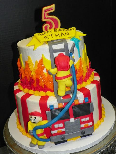 8 Fireman Happy Birthday Alex Cakes Photo Firefighter Birthday