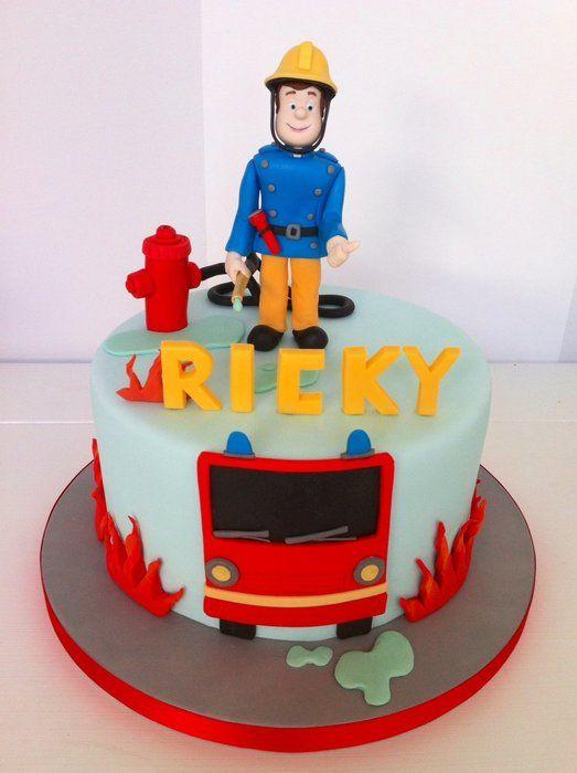 8 Sam The Man Cakes Photo Fireman Sam Birthday Cake Fire Sams