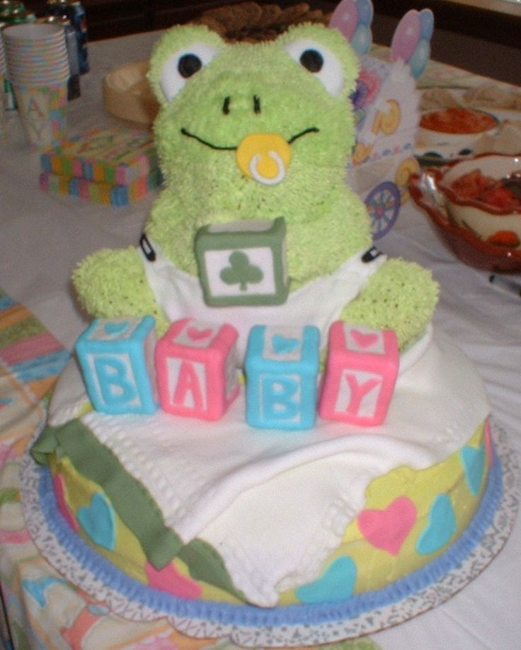 9 Froggy Baby Shower Cakes Photo Frog Baby Shower Cake Frog Baby