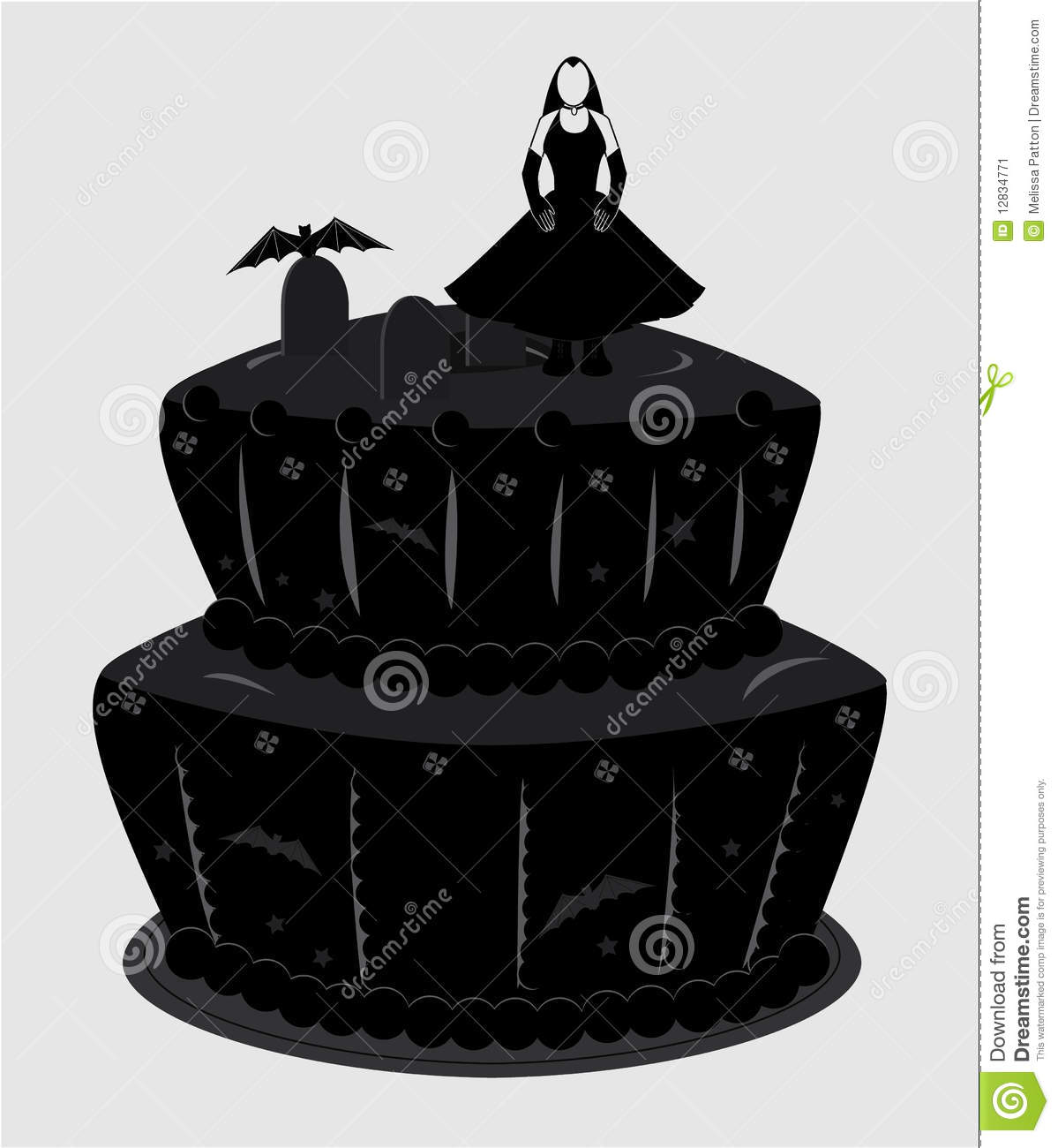 10 Gothic 2 Tier Birthday Cakes Photo Black And White Two Tier