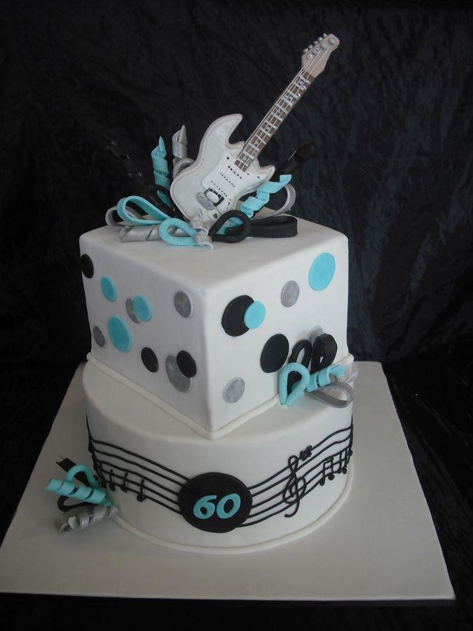 10 Professionally Made Birthday Cakes For Boys Guitar Black Photo