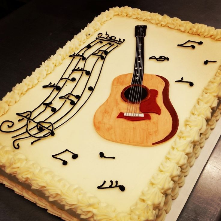 Super 10 Professionally Made Birthday Cakes For Boys Guitar Black Photo Funny Birthday Cards Online Barepcheapnameinfo