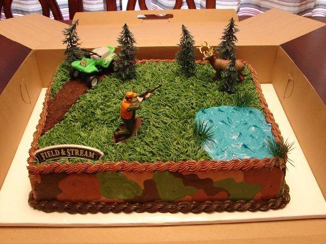 11 Deer Hunting Cakes For Men Photo Hunting Camo Birthday Cake