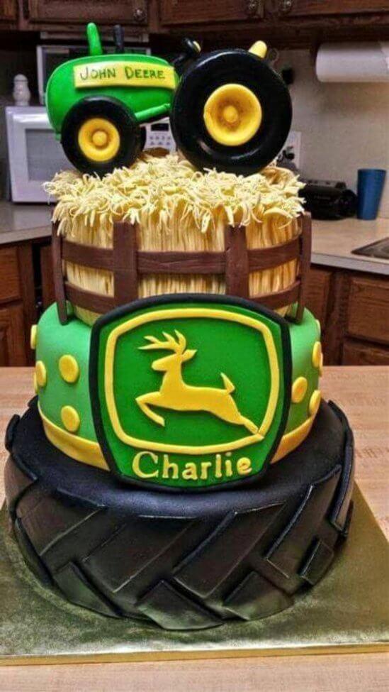 11 John Deer Hunting Birthday Cakes Photo John Deere Tractor