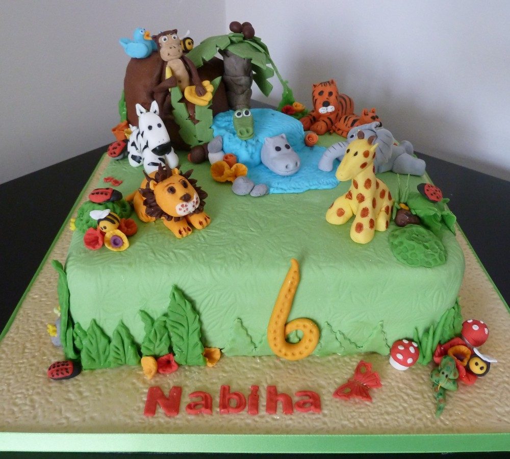Jungle Animal Birthday Sheet Cakes