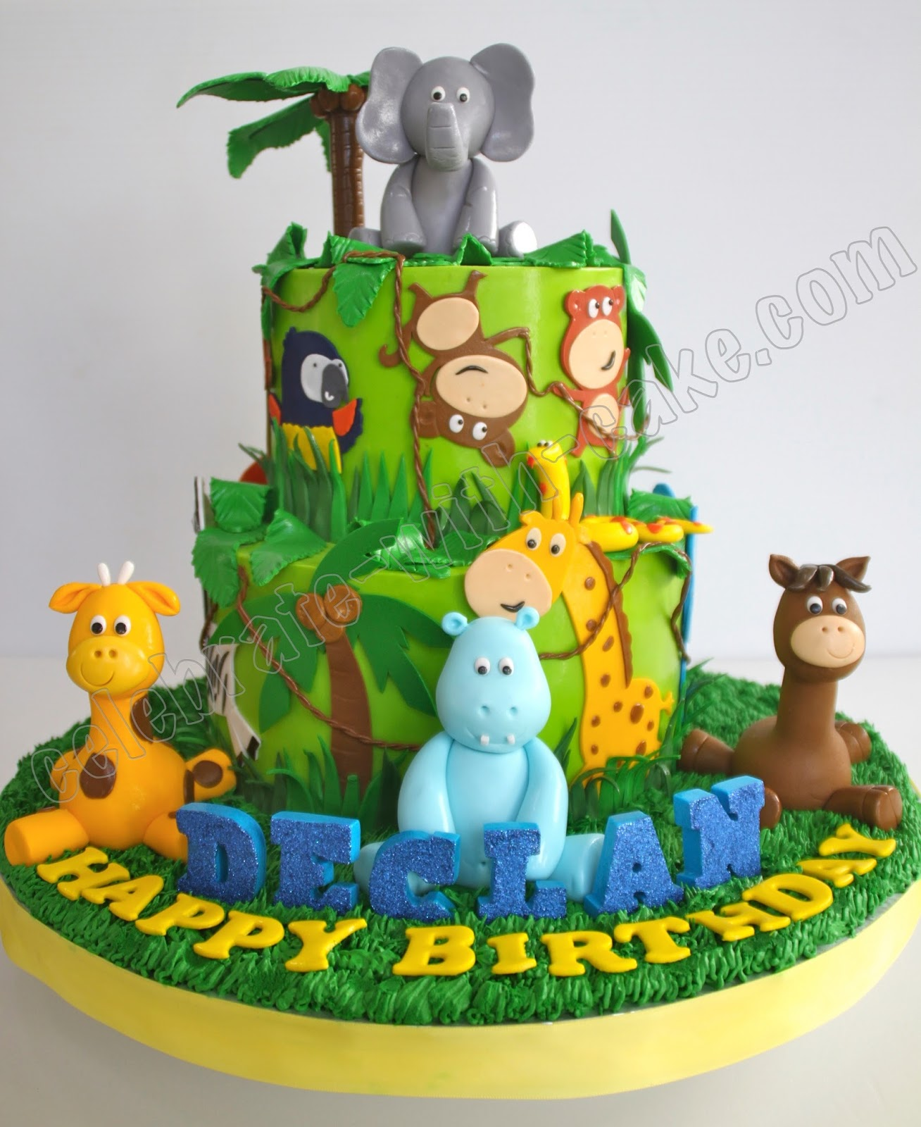 Jungle Safari Animal Cake