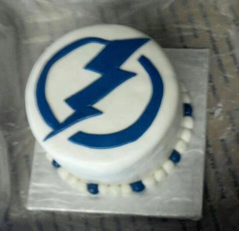 Remarkable 6 Lightning Hockey Birthday Cakes Photo Lightning Bolt Birthday Personalised Birthday Cards Veneteletsinfo
