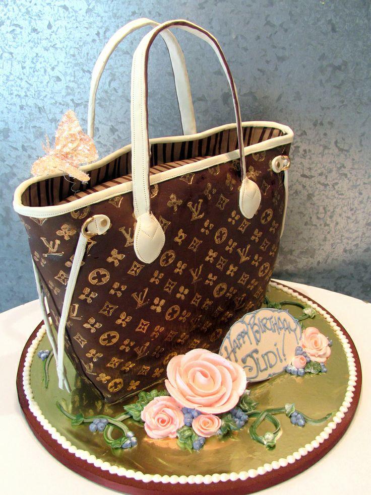 Louis Vuitton Bag Birthday Cake 3 D