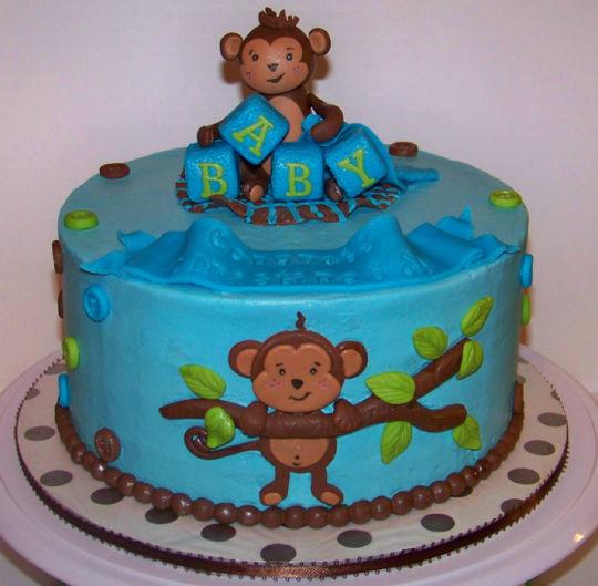 13 Buttercream Monkey Cakes For Boys Photo Monkey Birthday Cake